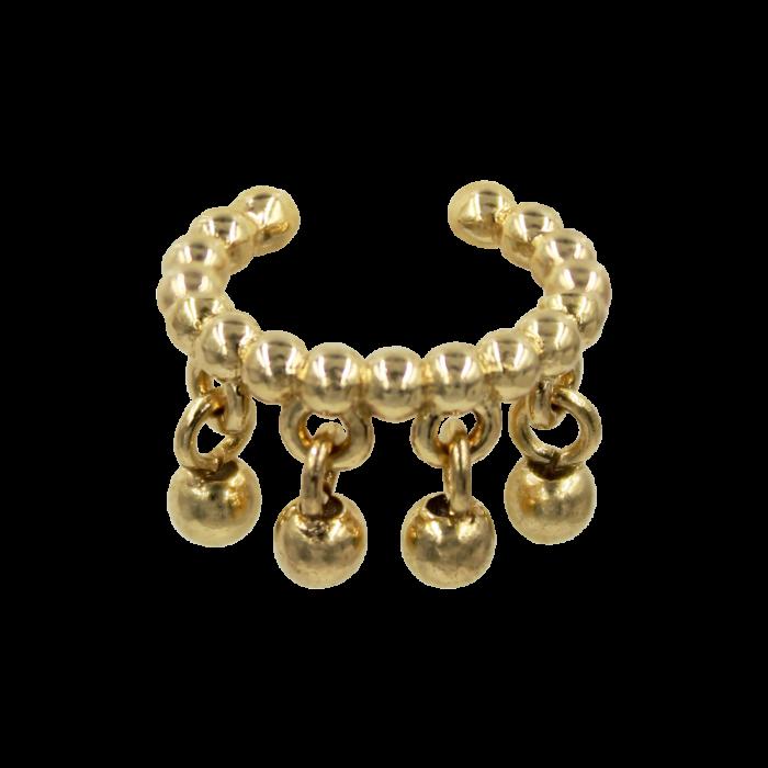 Σκουλαρίκι Μονό Earcuff Χρυσό 14Κ - S1187