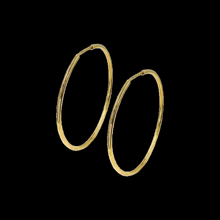 Σκουλαρίκια Κρίκοι χρυσά 14Κ - SK1004