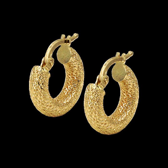Σκουλαρίκια Κρίκοι χρυσά 14Κ - SK1016