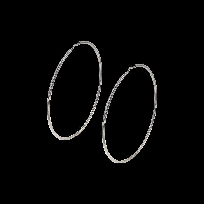 Σκουλαρίκια Κρίκοι λευκόχρυσα 14Κ - SK1031