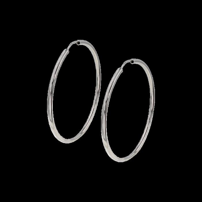 Σκουλαρίκια Κρίκοι λευκόχρυσα 14Κ - SK1032