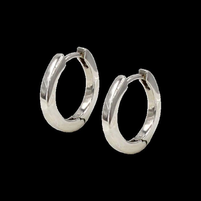Σκουλαρίκια Κρίκοι λευκόχρυσα 14Κ - SK1043