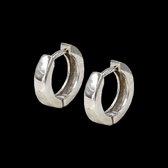 Σκουλαρίκια Κρίκοι λευκόχρυσα 14Κ - SK1045