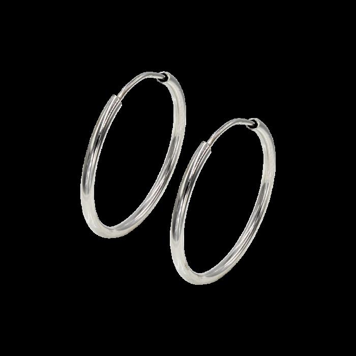 Σκουλαρίκια Κρίκοι λευκόχρυσα 14Κ - SK1057