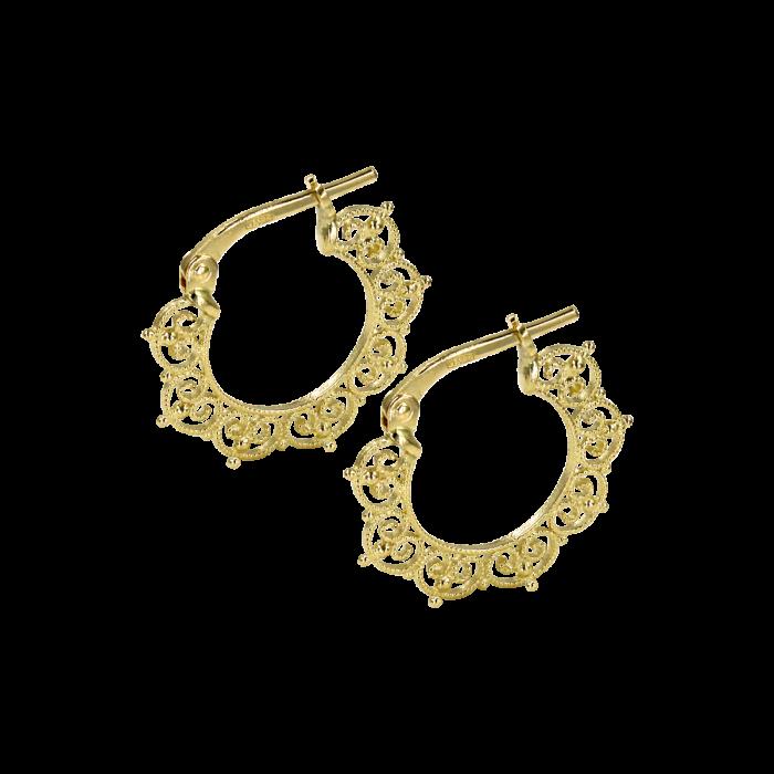 Σκουλαρίκια Κρίκοι χρυσά 14Κ - SK1062