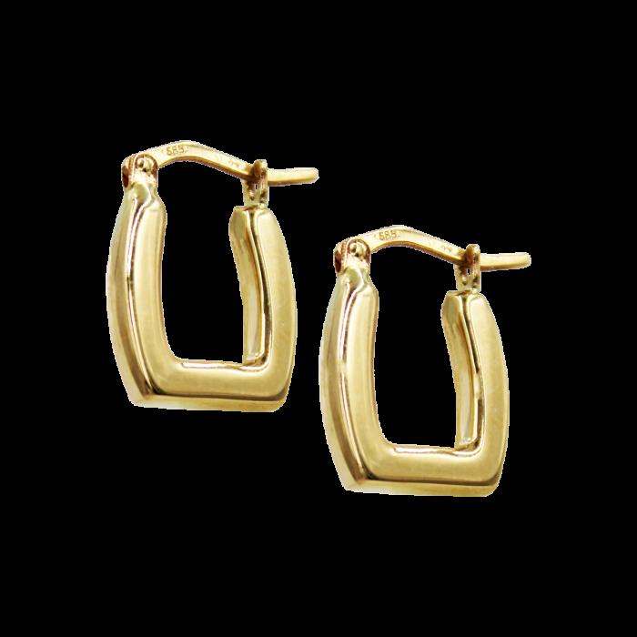 Σκουλαρίκια Κρίκοι Χρυσά 14Κ - SK1068