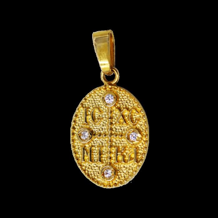 Κωνσταντινάτο Χρυσό 14Κ Δύο Όψεων - PM1197