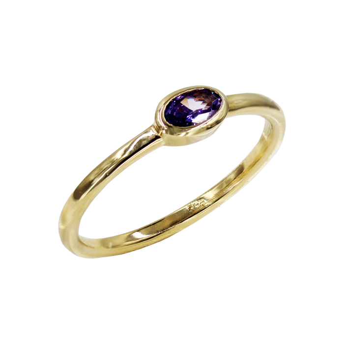 Δαχτυλίδι Χρυσό Με Ζιργκόν Πέτρα 14Κ - D1082