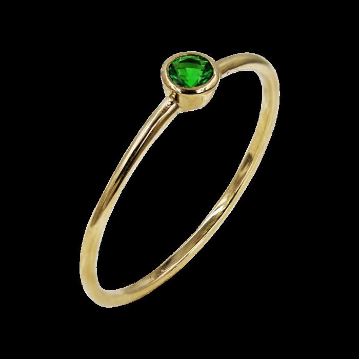 Δαχτυλίδι Χρυσό Με Ζιργκόν Πέτρα 14Κ - D1085