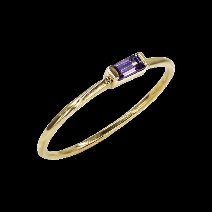 Δαχτυλίδι Χρυσό Με Ζιργκόν Πέτρα 14Κ - D1087