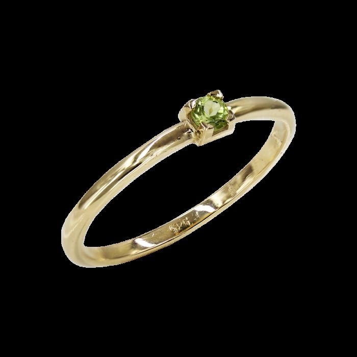Δαχτυλίδι Χρυσό Με Ζιργκόν Πέτρα 14Κ - D1088
