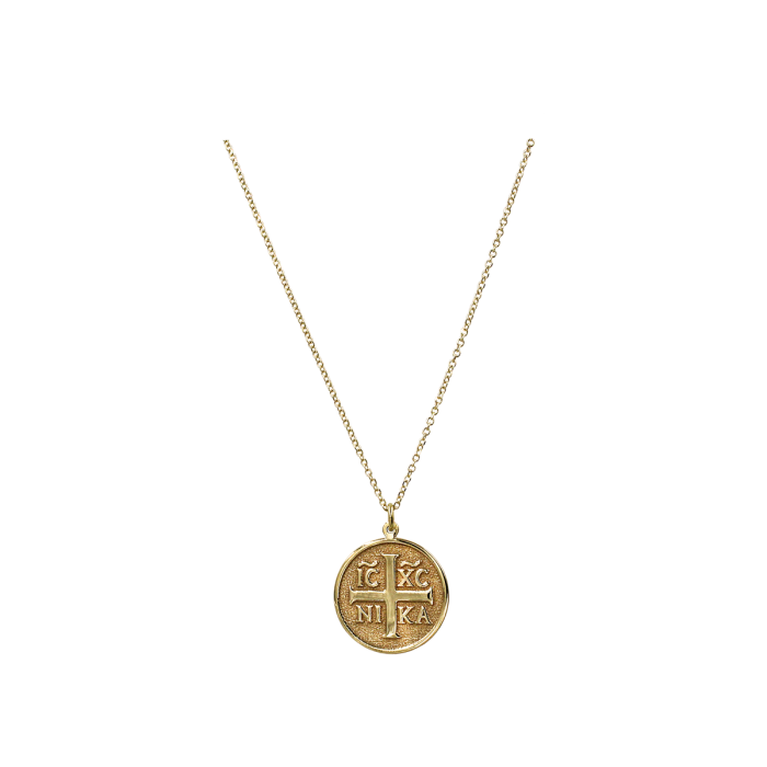 Κολιέ φυλαχτό χρυσό 9Κ - K1297