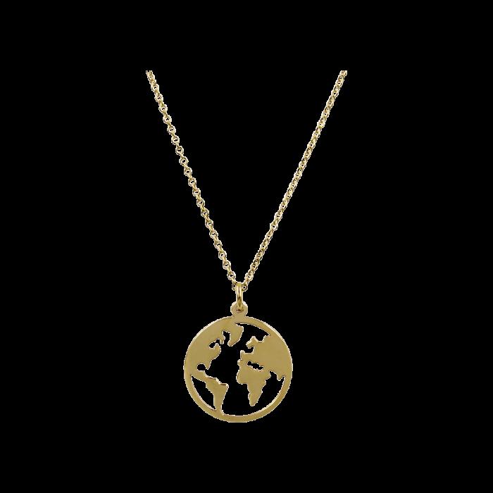 Κολιέ Υδρόγειος Χρυσό 9Κ - K1331