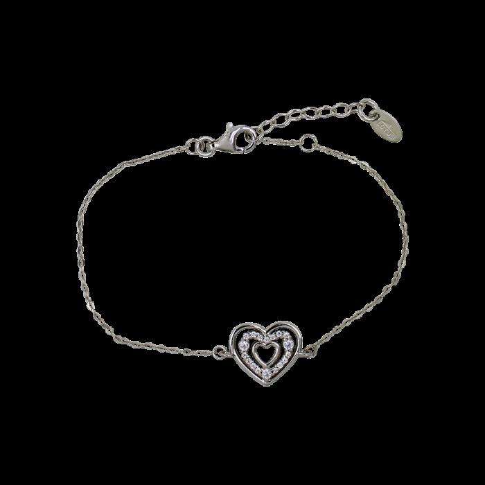 Lotus Silver Womans Heart Βραχιόλι - LP3143-2/1